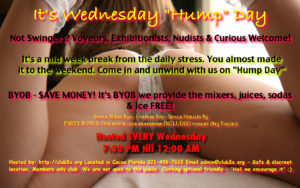 "Wednesday ""HuMp DaY"" & Self Love Meet - Fun and Food! @ Club3X 